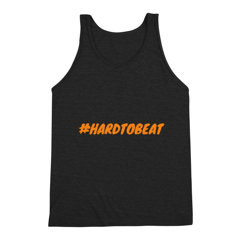 #HARDTOBEAT - ORANGE Men's Triblend Tank by Hard To Beat