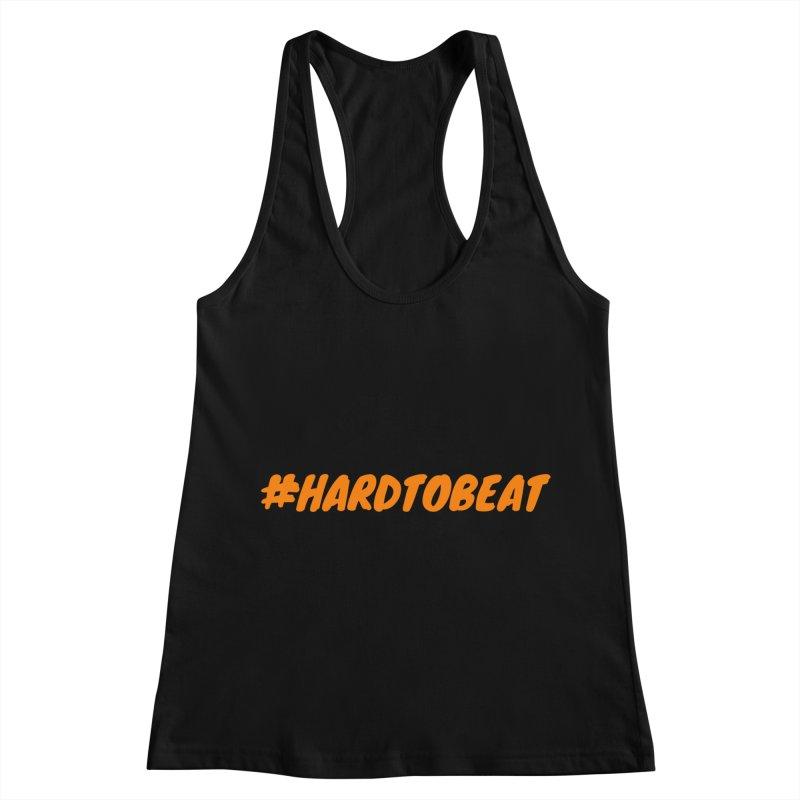 #HARDTOBEAT - ORANGE Women's Racerback Tank by Hard To Beat