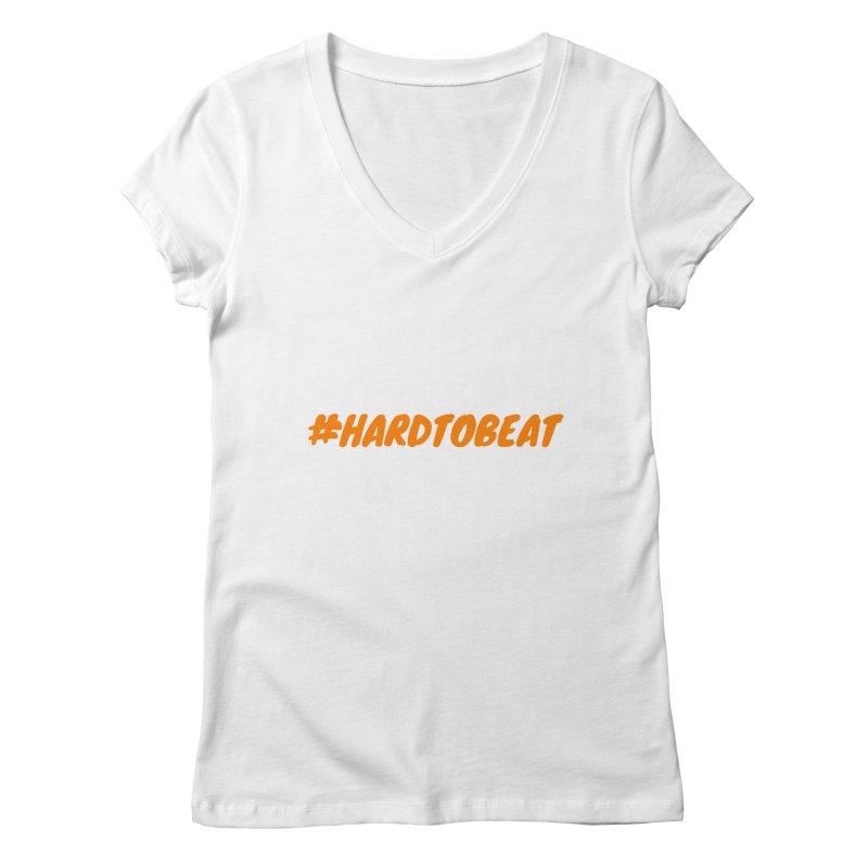 #HARDTOBEAT - ORANGE Women's Regular V-Neck by Hard To Beat