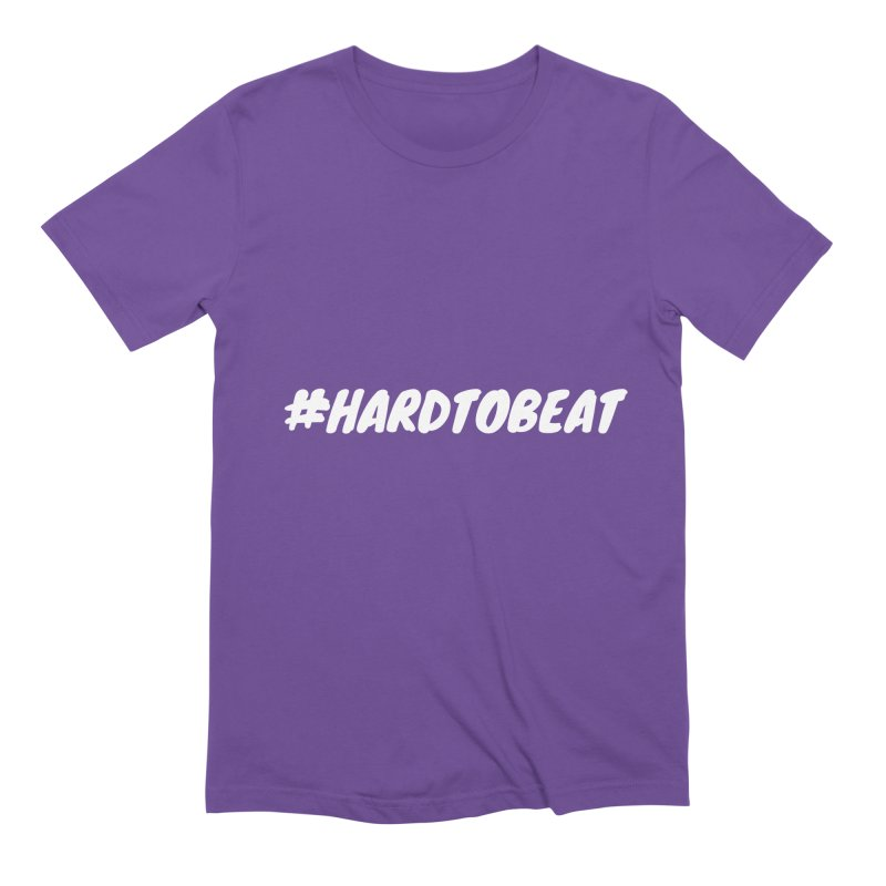 #HARDTOBEAT - WHITE Men's Extra Soft T-Shirt by Hard To Beat