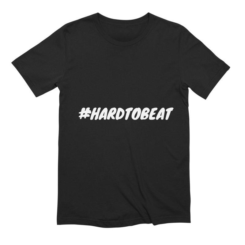 #HARDTOBEAT - WHITE Men's T-Shirt by Hard To Beat