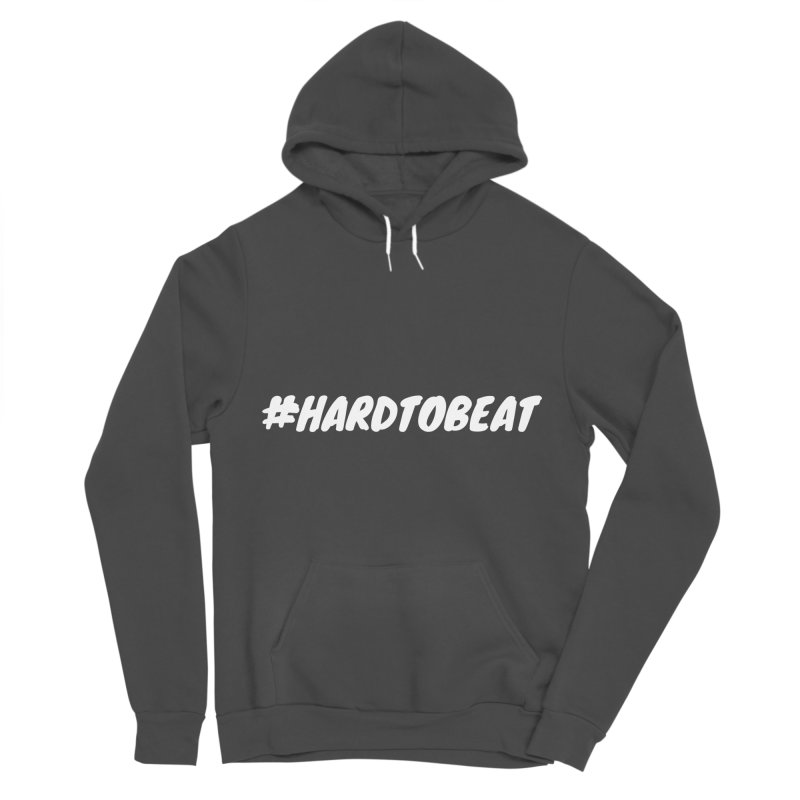 #HARDTOBEAT - WHITE Men's Sponge Fleece Pullover Hoody by Hard To Beat