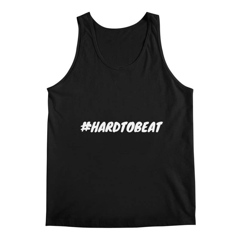 #HARDTOBEAT - WHITE in Men's Regular Tank Black by Hard To Beat