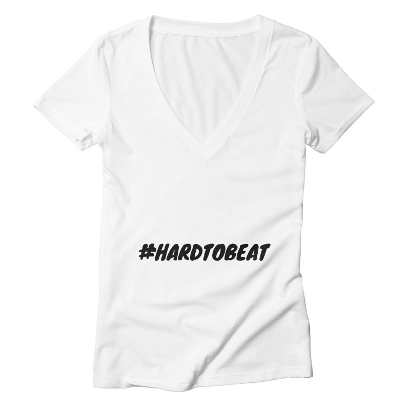 #HARDTOBEAT - BLACK Women's Deep V-Neck V-Neck by Hard To Beat