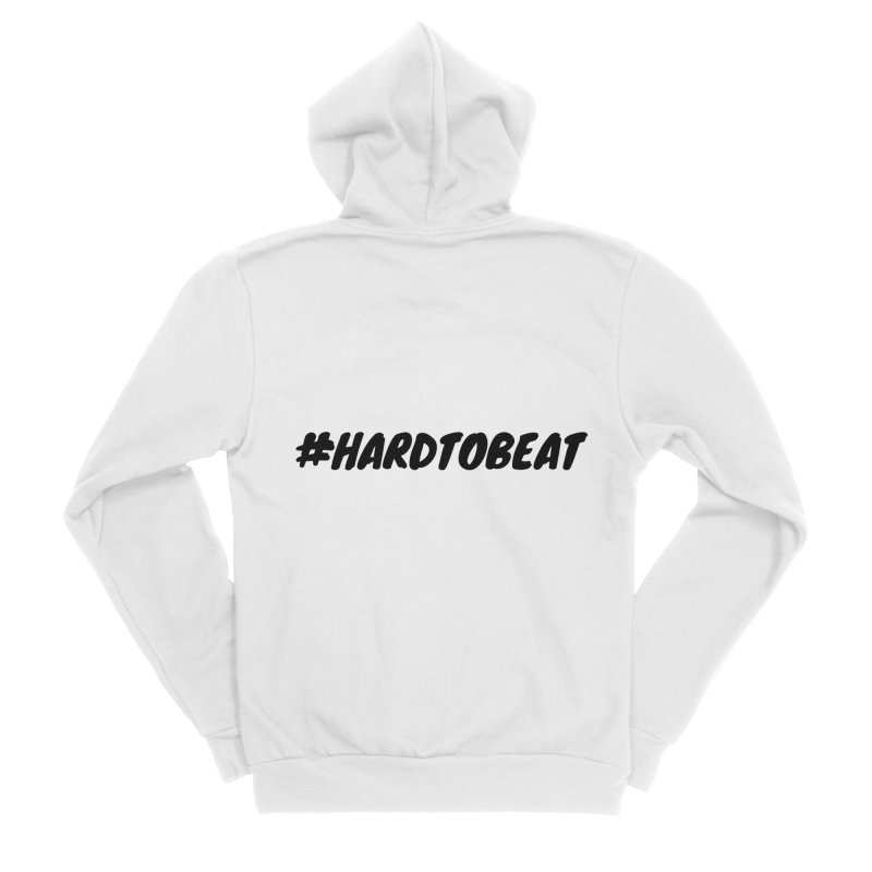 #HARDTOBEAT - BLACK Men's Sponge Fleece Zip-Up Hoody by Hard To Beat