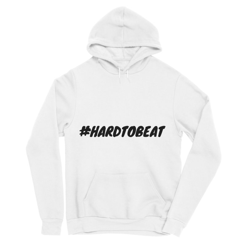 #HARDTOBEAT - BLACK Men's Sponge Fleece Pullover Hoody by Hard To Beat