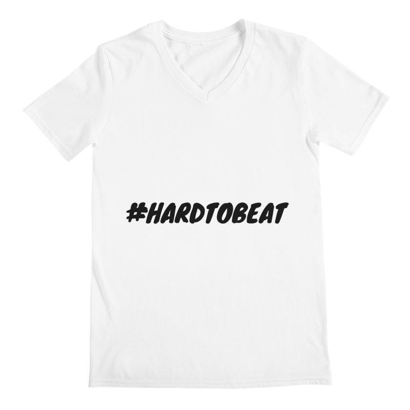 #HARDTOBEAT - BLACK Men's V-Neck by Hard To Beat
