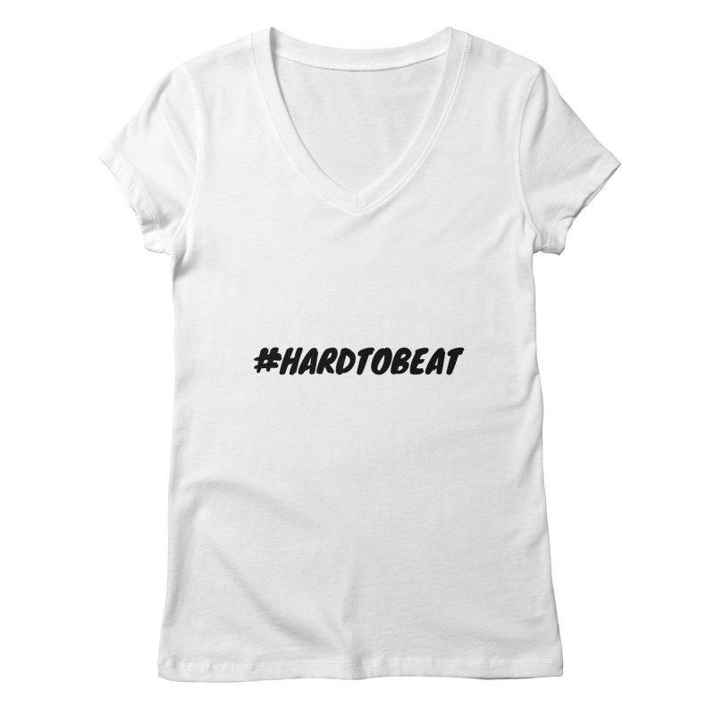 #HARDTOBEAT - BLACK Women's V-Neck by Hard To Beat