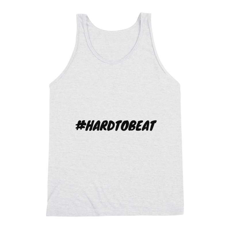 #HARDTOBEAT - BLACK Men's Triblend Tank by Hard To Beat