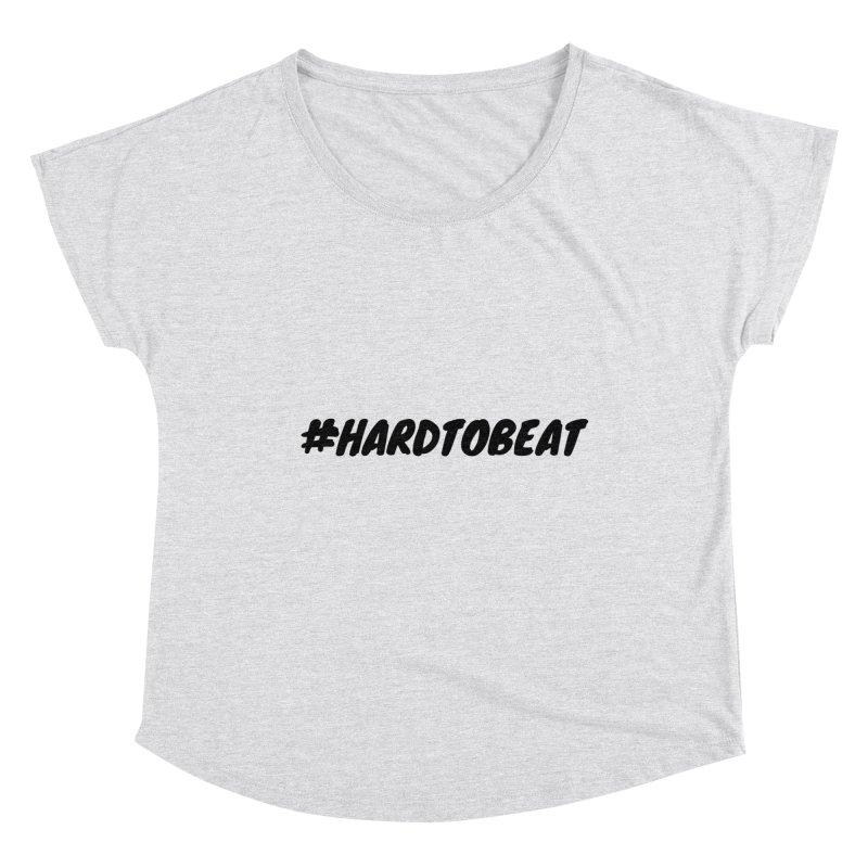 #HARDTOBEAT - BLACK Women's Scoop Neck by Hard To Beat
