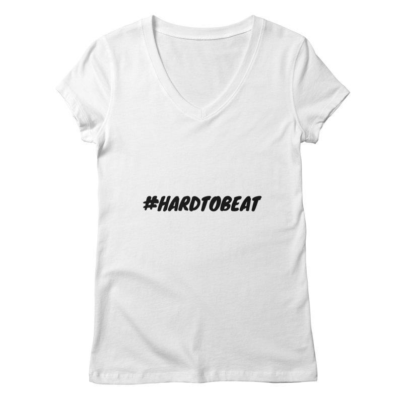 #HARDTOBEAT - BLACK Women's Regular V-Neck by Hard To Beat