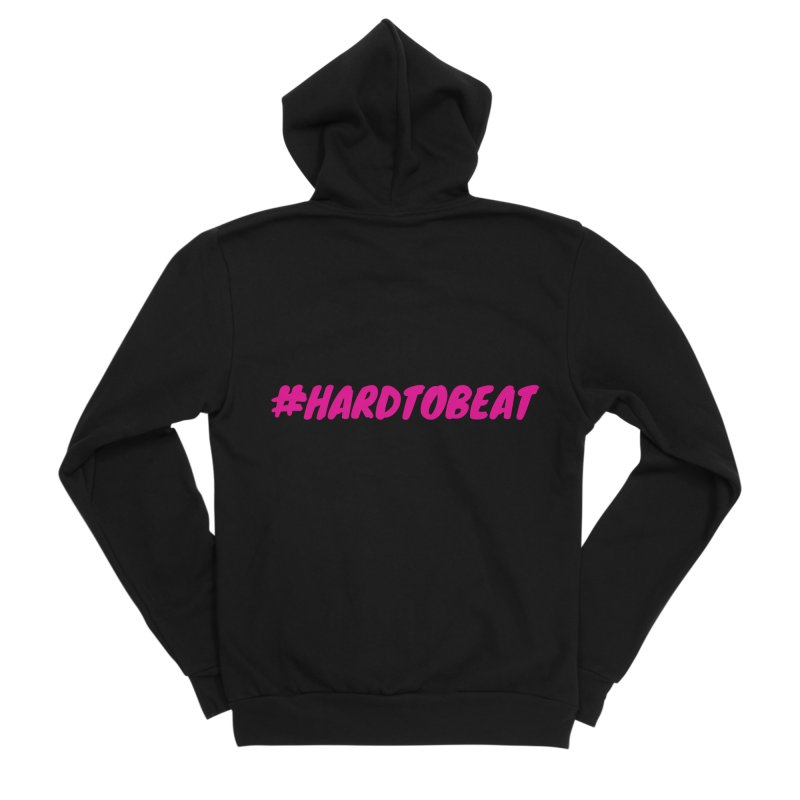 #HARDTOBEAT - PINK in Women's Sponge Fleece Zip-Up Hoody Black by Hard To Beat