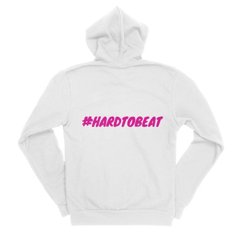 #HARDTOBEAT - PINK Men's Sponge Fleece Zip-Up Hoody by Hard To Beat