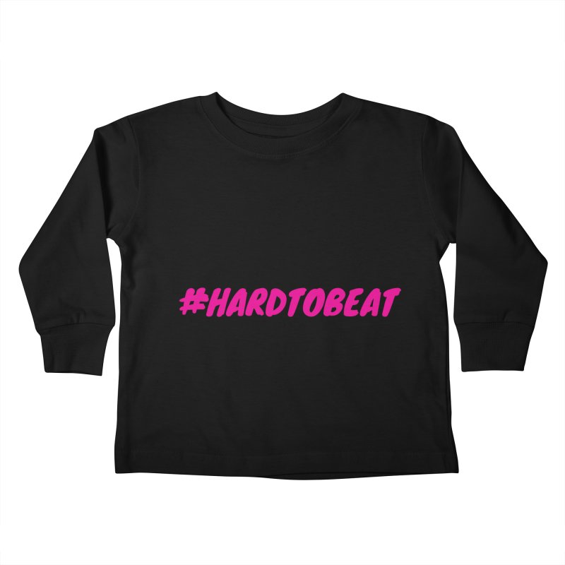 #HARDTOBEAT - PINK Kids Toddler Longsleeve T-Shirt by Hard To Beat