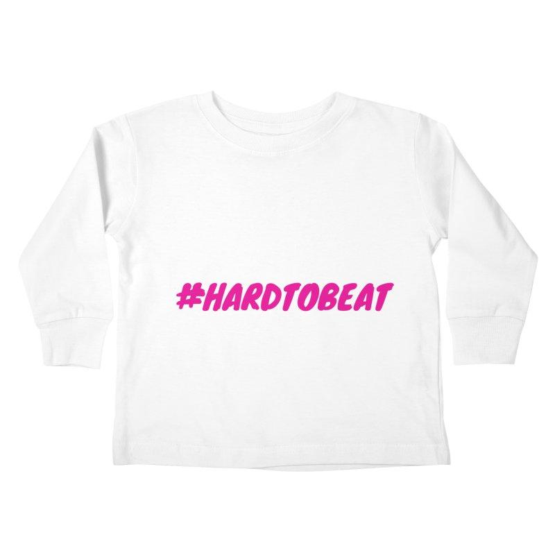 #HARDTOBEAT - PINK Kids Toddler Longsleeve T-Shirt by Hard To Beat