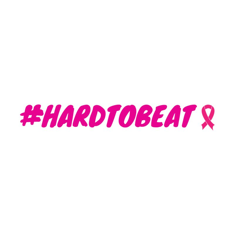 #HARDTOBEAT - BREAST CANCER AWARENESS Women's Scoop Neck by Hard To Beat