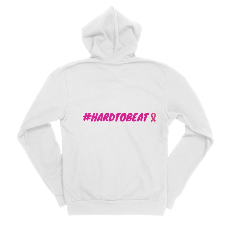 #HARDTOBEAT - BREAST CANCER AWARENESS Men's Zip-Up Hoody by Hard To Beat