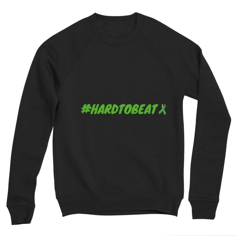 #HARDTOBEAT - MENTAL HEALTH AWARENESS in Men's Sponge Fleece Sweatshirt Black by Hard To Beat