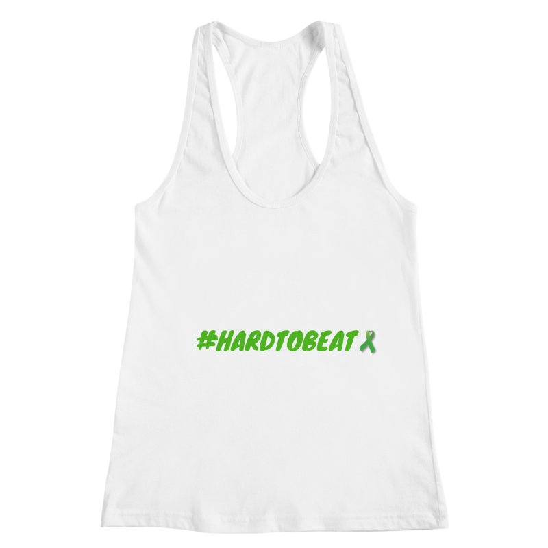#HARDTOBEAT - MENTAL HEALTH AWARENESS Women's Racerback Tank by Hard To Beat