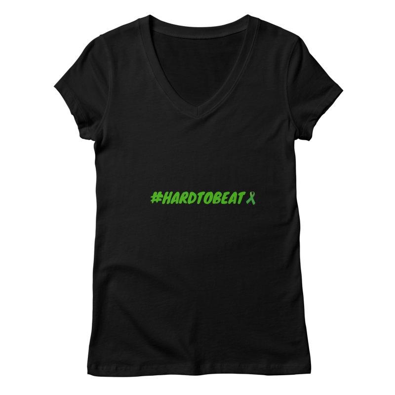 #HARDTOBEAT - MENTAL HEALTH AWARENESS Women's V-Neck by Hard To Beat