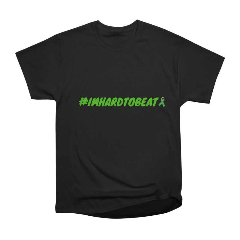 #IMHARDTOBEAT - MENTAL HEALTH AWARENESS in Men's Heavyweight T-Shirt Black by Hard To Beat