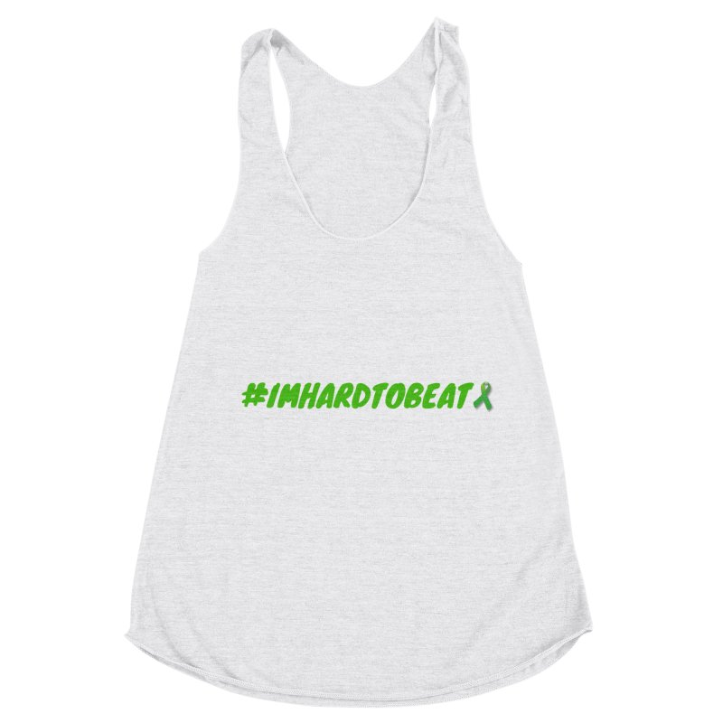 #IMHARDTOBEAT - MENTAL HEALTH AWARENESS Women's Racerback Triblend Tank by Hard To Beat