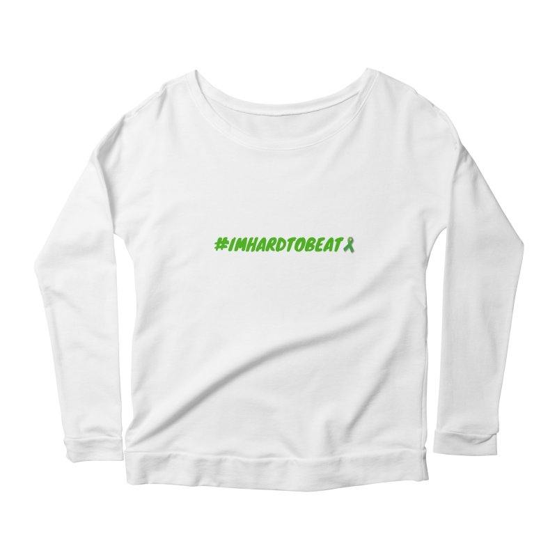 #IMHARDTOBEAT - MENTAL HEALTH AWARENESS Women's Scoop Neck Longsleeve T-Shirt by Hard To Beat