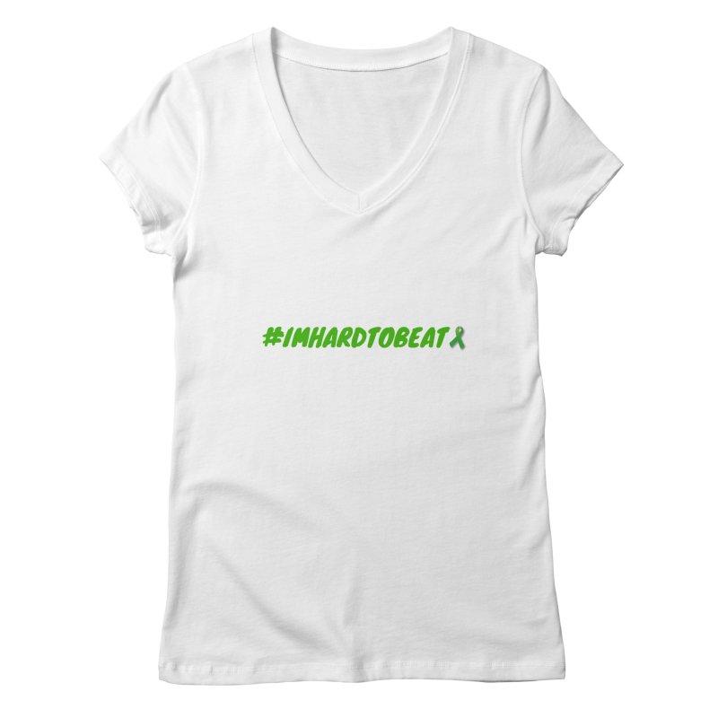 #IMHARDTOBEAT - MENTAL HEALTH AWARENESS Women's Regular V-Neck by Hard To Beat
