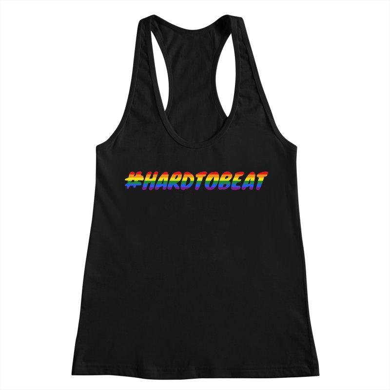 #HARDTOBEAT - LGBT Pride Month Women's Racerback Tank by Hard To Beat