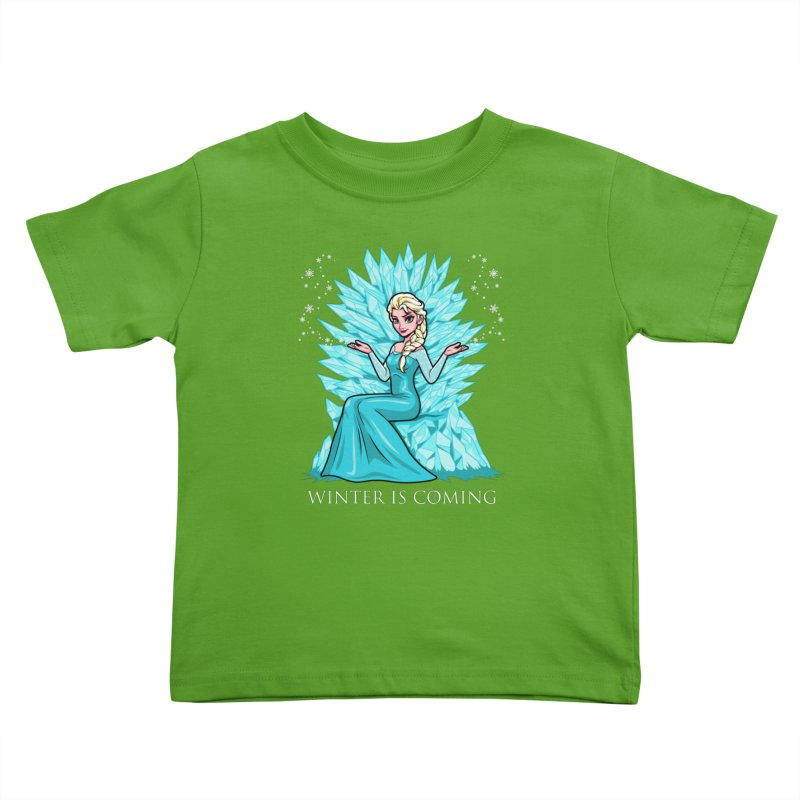 Winter Is Coming Kids Toddler T-Shirt by harebrained's Artist Shop
