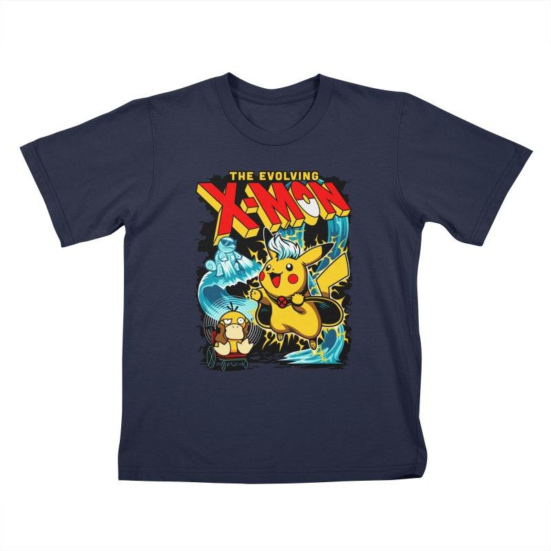 X-Mon Kids Toddler T-Shirt by harebrained's Artist Shop