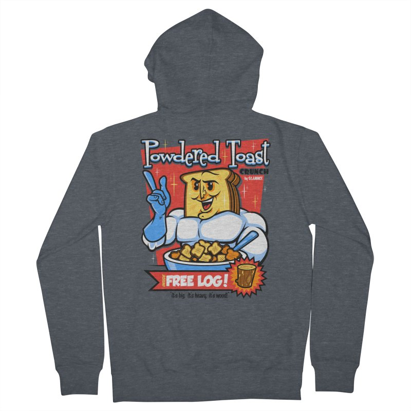 Powdered Toast Crunch Men's French Terry Zip-Up Hoody by harebrained's Artist Shop
