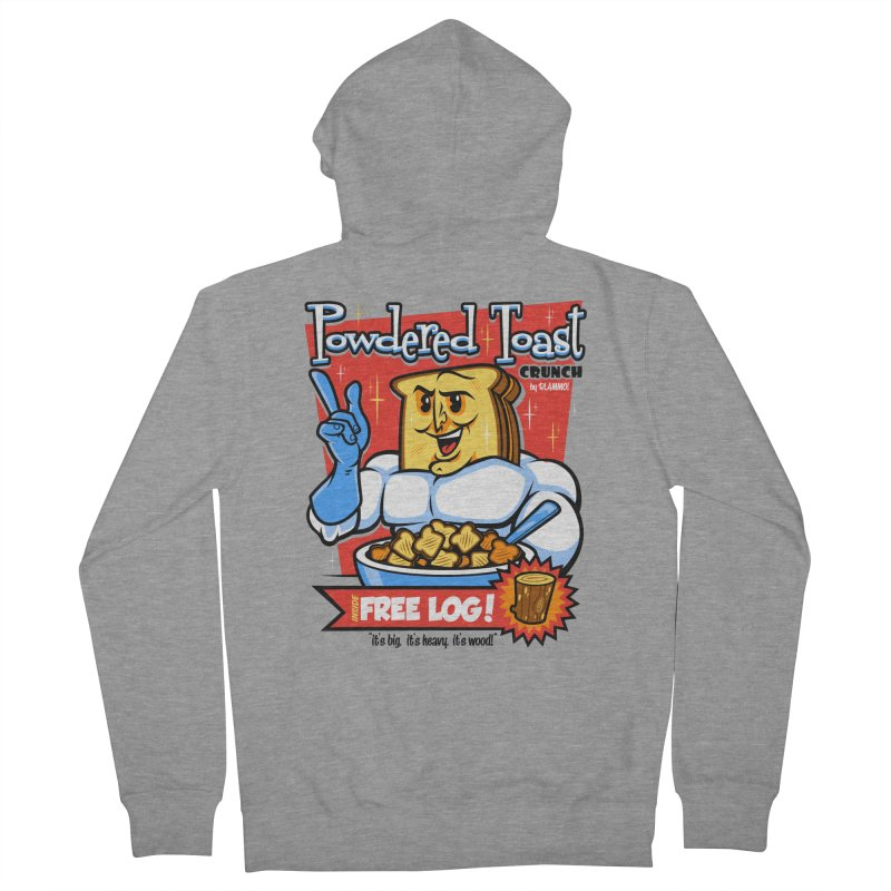 Powdered Toast Crunch Men's Zip-Up Hoody by harebrained's Artist Shop