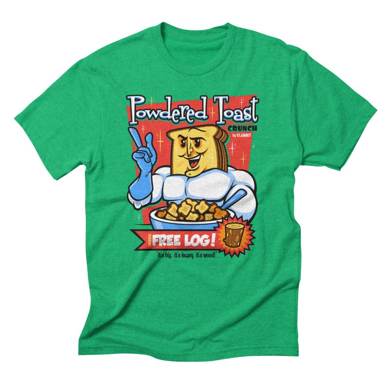Powdered Toast Crunch Men's Triblend T-Shirt by harebrained's Artist Shop