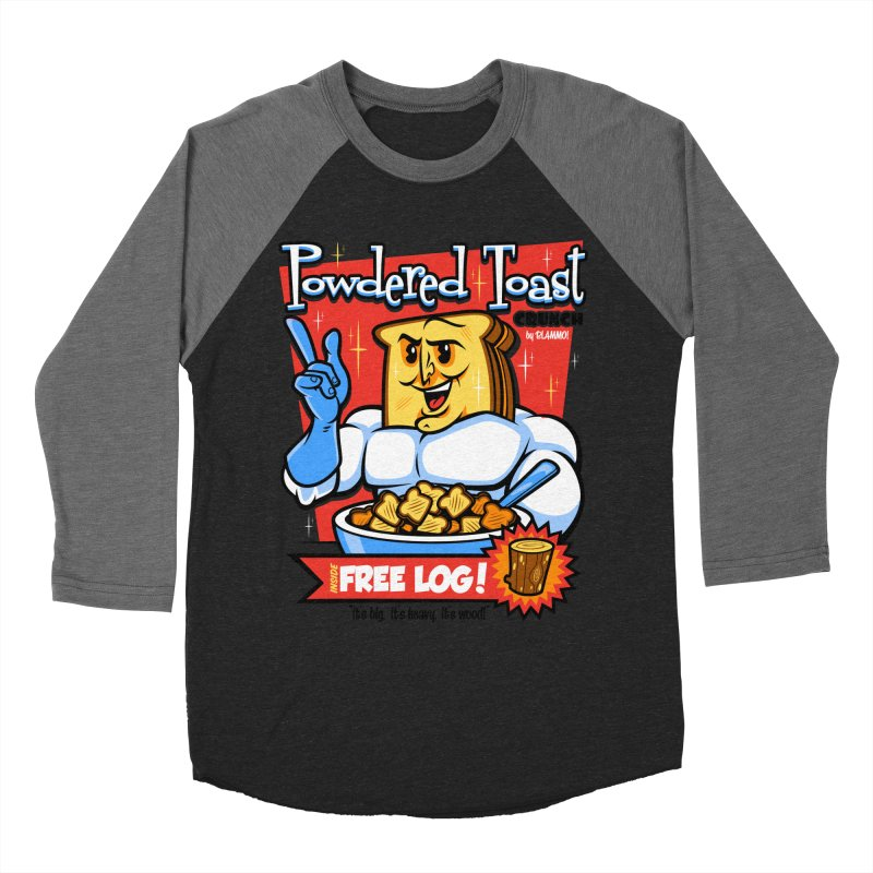 Powdered Toast Crunch Women's Baseball Triblend Longsleeve T-Shirt by harebrained's Artist Shop