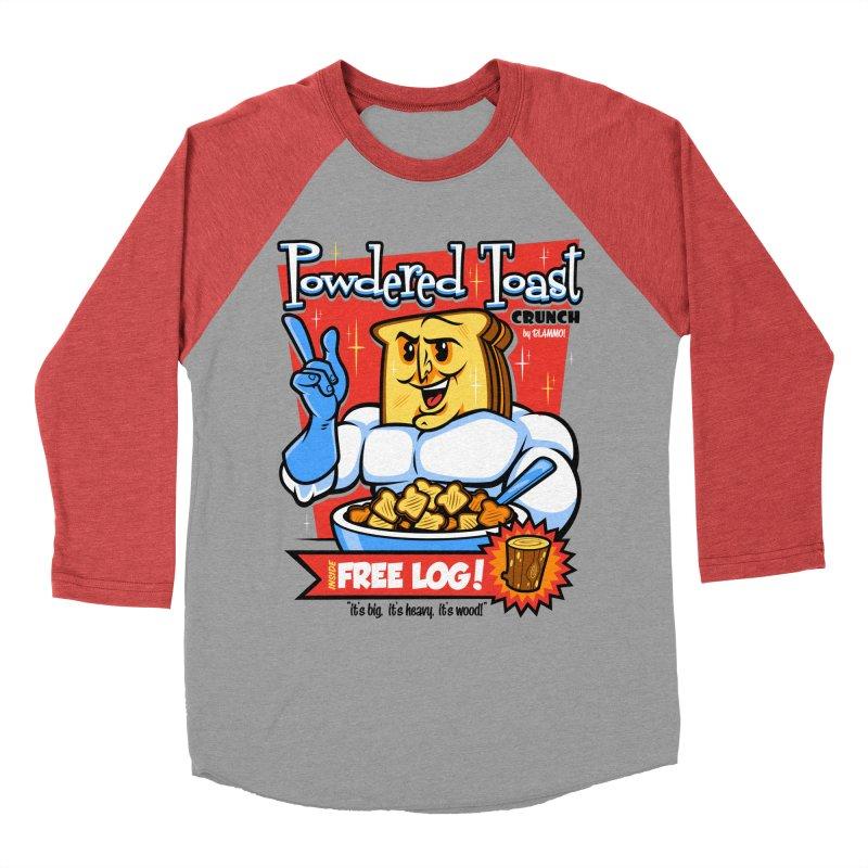 Powdered Toast Crunch Men's Baseball Triblend T-Shirt by harebrained's Artist Shop