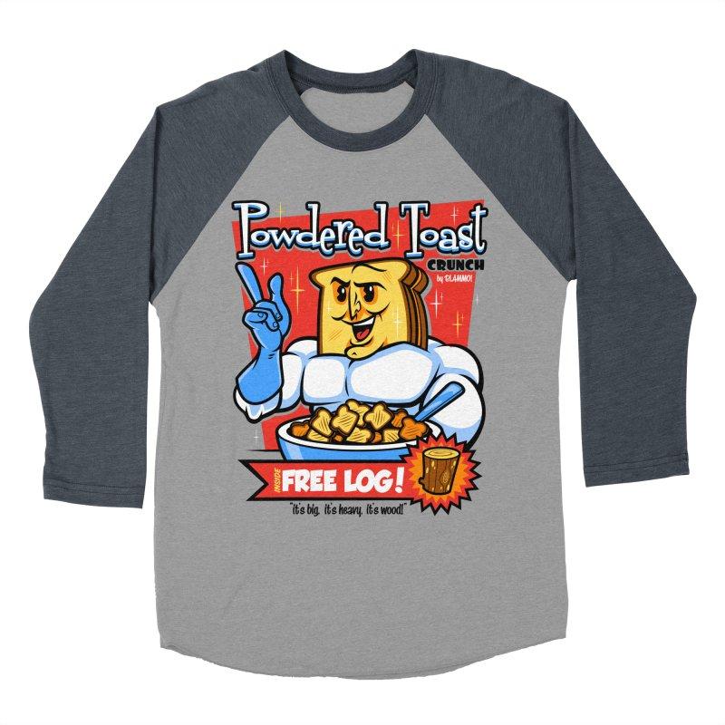 Powdered Toast Crunch Men's Baseball Triblend Longsleeve T-Shirt by harebrained's Artist Shop