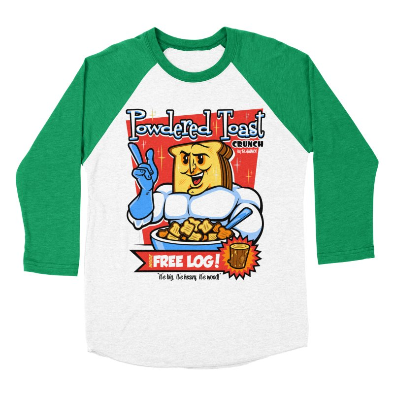 Powdered Toast Crunch Men's Baseball Triblend T-Shirt by harebrained's Artist Shop