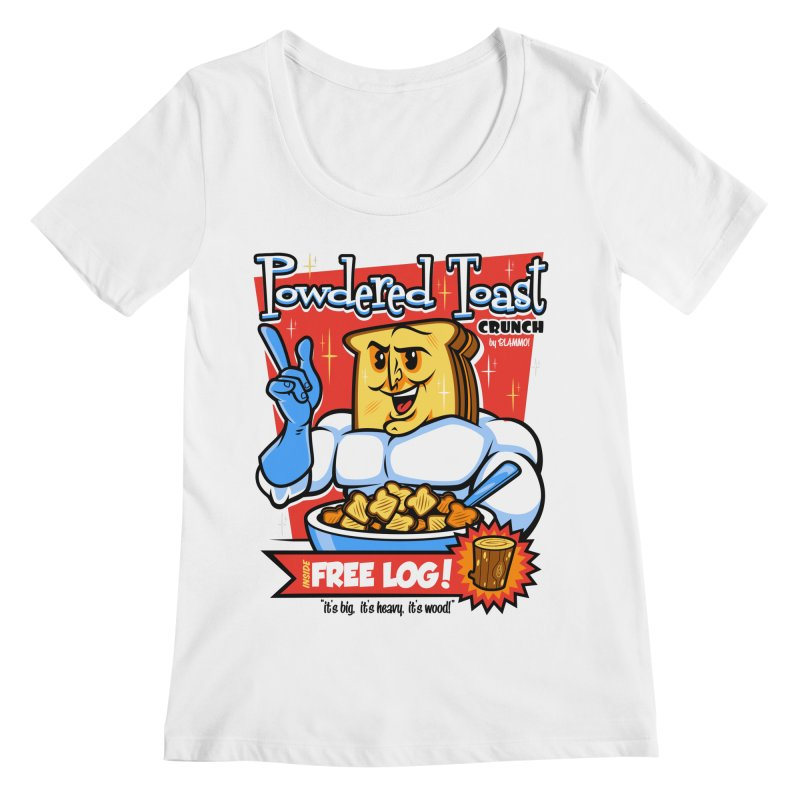Powdered Toast Crunch Women's Regular Scoop Neck by harebrained's Artist Shop