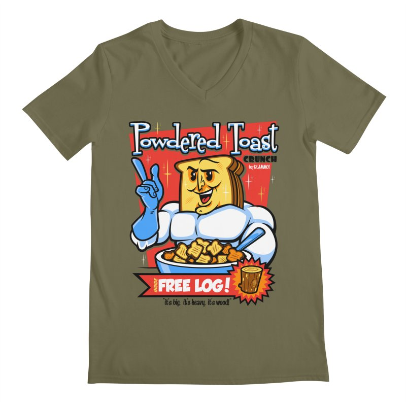 Powdered Toast Crunch Men's V-Neck by harebrained's Artist Shop