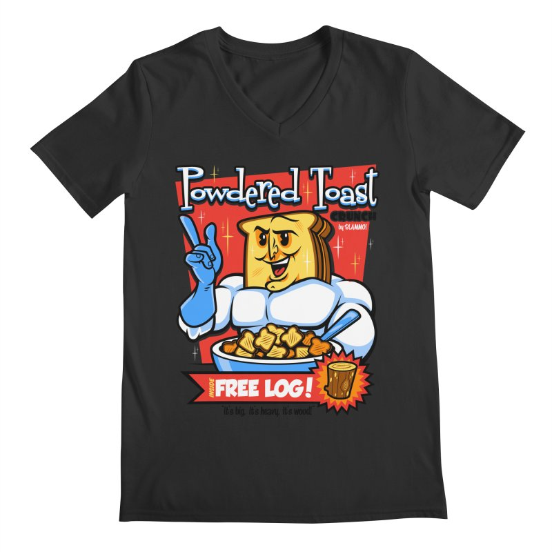 Powdered Toast Crunch Men's Regular V-Neck by harebrained's Artist Shop