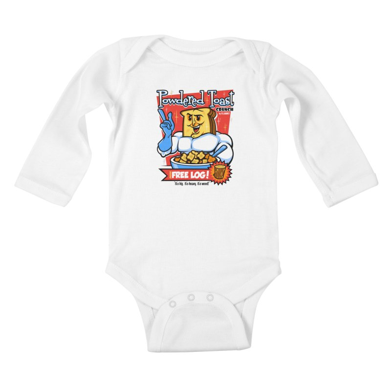Powdered Toast Crunch Kids Baby Longsleeve Bodysuit by harebrained's Artist Shop