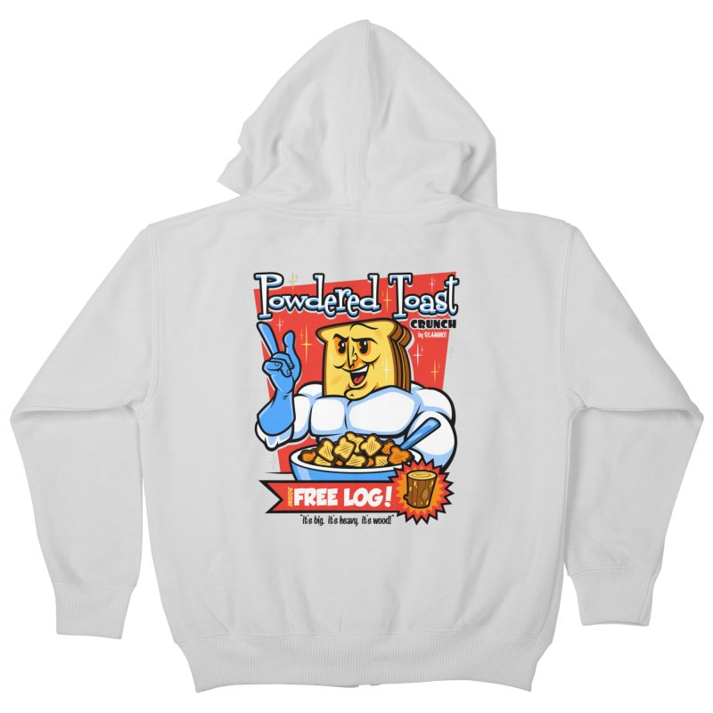 Powdered Toast Crunch Kids Zip-Up Hoody by harebrained's Artist Shop