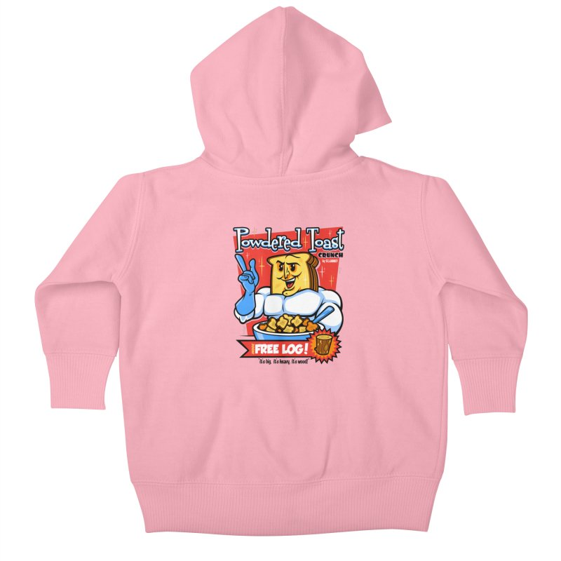 Powdered Toast Crunch Kids Baby Zip-Up Hoody by harebrained's Artist Shop
