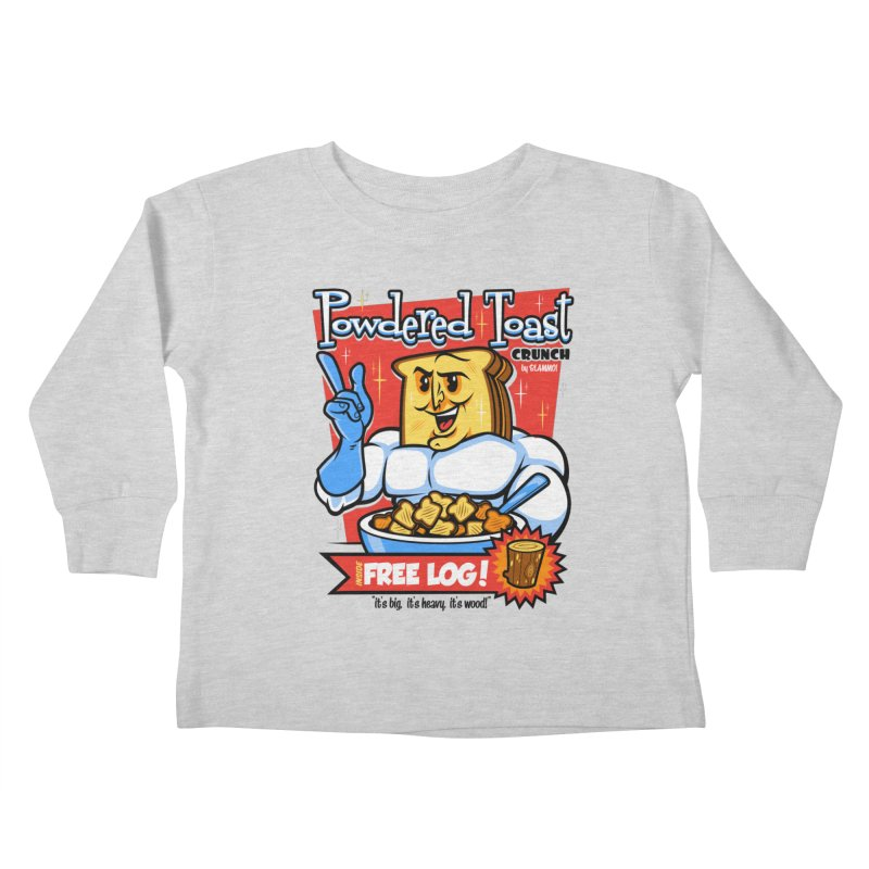 Powdered Toast Crunch Kids Toddler Longsleeve T-Shirt by harebrained's Artist Shop