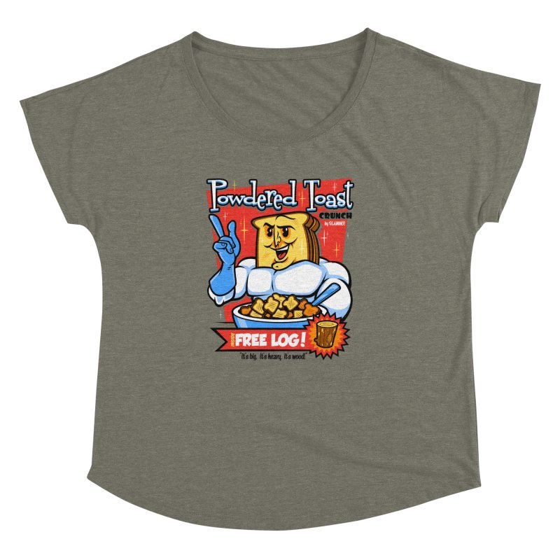 Powdered Toast Crunch Women's Dolman Scoop Neck by harebrained's Artist Shop