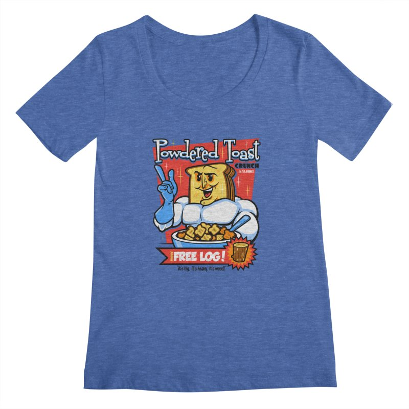 Powdered Toast Crunch Women's Scoopneck by harebrained's Artist Shop