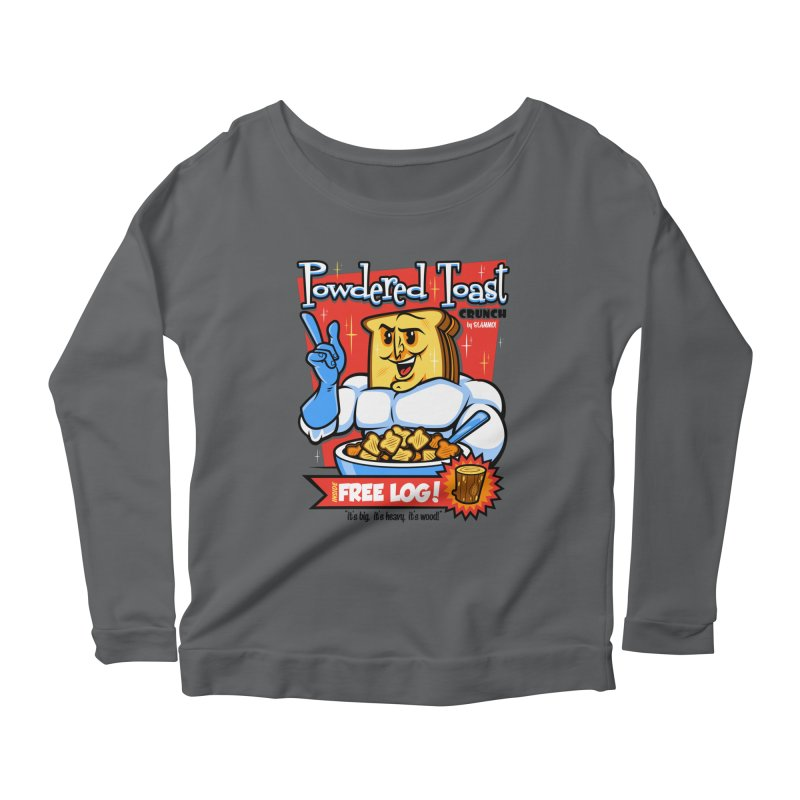 Powdered Toast Crunch Women's Longsleeve Scoopneck  by harebrained's Artist Shop