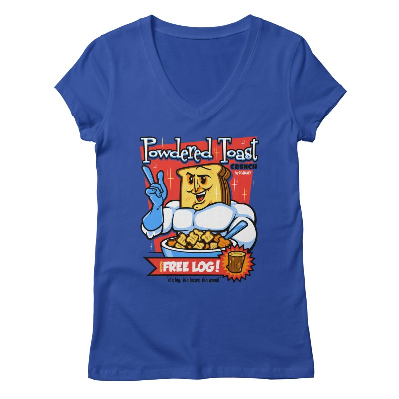 Powdered Toast Crunch Women's Regular V-Neck by harebrained's Artist Shop