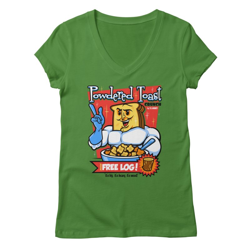 Powdered Toast Crunch Women's V-Neck by harebrained's Artist Shop
